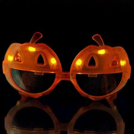 Pumpkin LED Sunglasses - Sunglasses Led