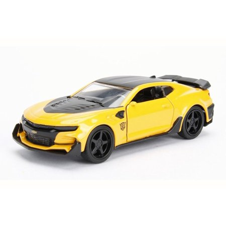 2016 TRANSFORMERS 5 Chevy Camaro Bumblebee, Yellow w/Black - Jada 98505 - 1/24 Scale Diecast Model Toy Car (Brand New but NO BOX) Chevy Camaro Glove Box
