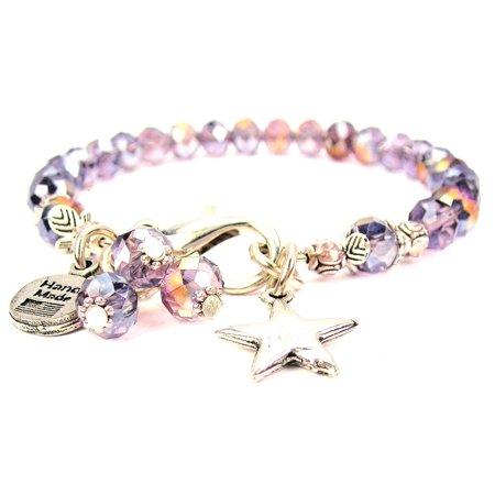 Crystal Star Charm Bracelet - Star Splash Of Color Crystal Bracelet, Fits 7.5