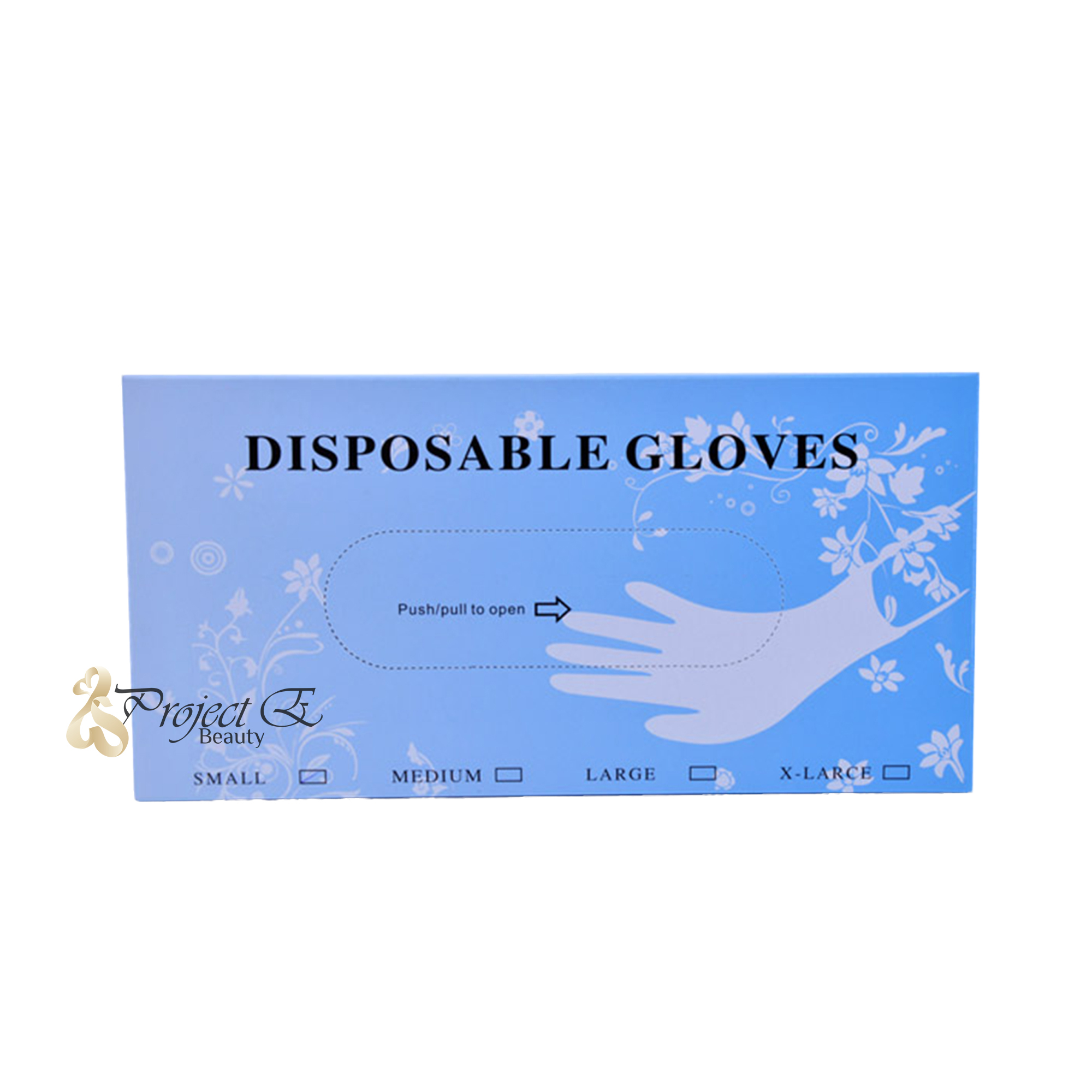 80 PCS Disposable Durable PVC Emulsion Multi-Purpose Beauty Salon Food Medical Clean Use Gloves - Medium Size