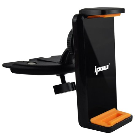 """IPOW iPad Car Mount Universal 7"""" to 9"""" Tablet and Smartphone CD Slot Holder"""