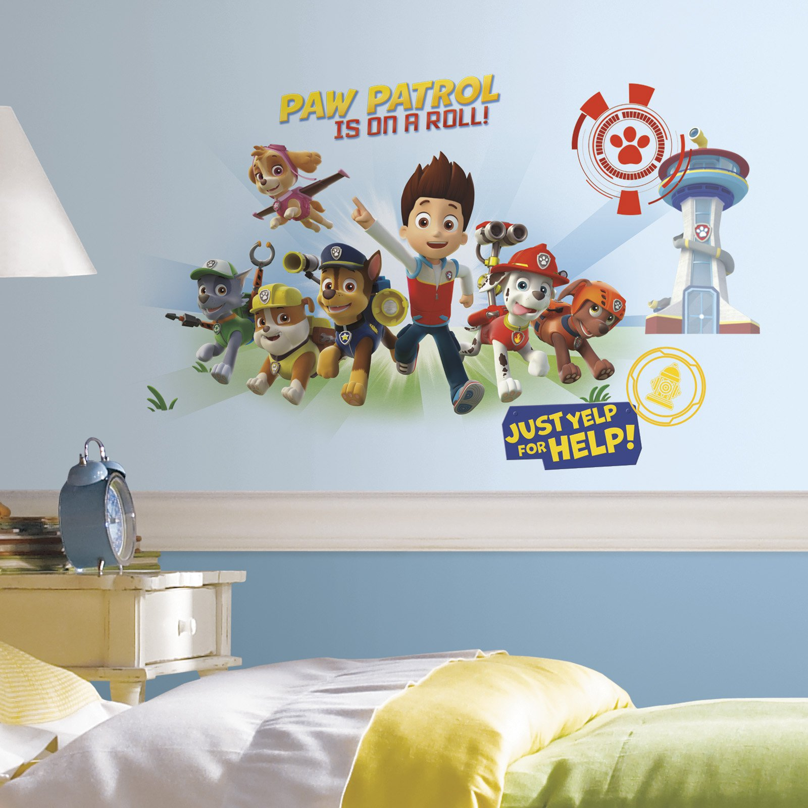 New PAW PATROL 37WALL DECALS Ryder /& Puppies Stickers Boys Puppy Bedroom Decor