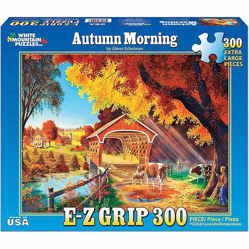 White Mountain Puzzles 330-Piece Jigsaw Puzzle, Autumn Morning WM1006