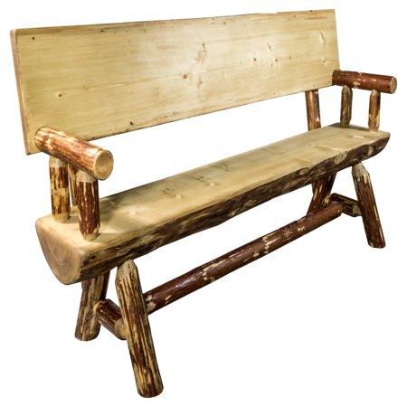 Montana Woodworks Glacier Country Indoor / Outdoor Half Log Bench ()