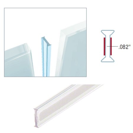 Gordon Glass Crystal Clear EZ-Glaze Glass-to-Glass Jointing Strips for 180 Degree Glass-to-Glass Joints - 3/8