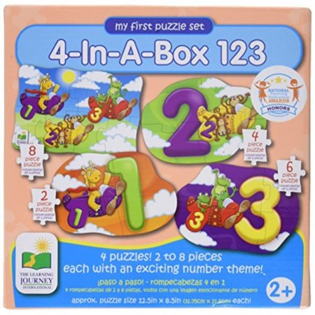 The Learning Journey My First Puzzle Set, 4-in-a-Box, 123 - Halloween Puzzles For 1st Grade