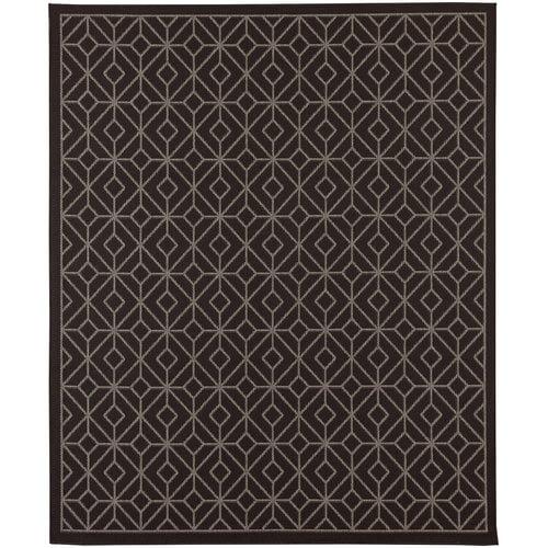 Karastan Portico Tremiti Onyx Gray Indoor Outdoor Area Rug by