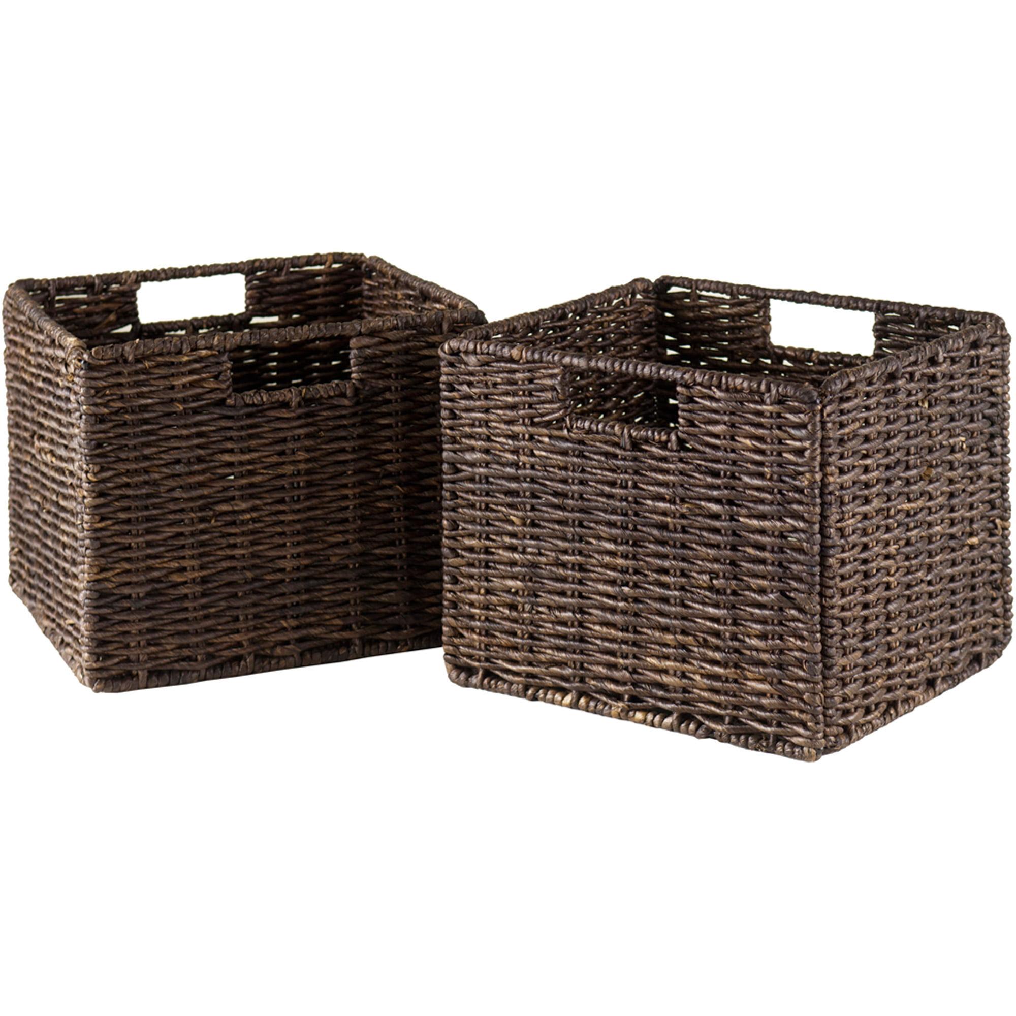Granville Foldable Corn Husk Baskets, Set of 2, 3 or 4