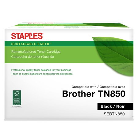 Sustainable Earth Brother TN 850 Remanufactured Black Toner Cartridge High Yield 24323585