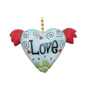 Funky Love Winged Heart Ceiling Fan Light Pull Chain