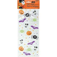 Plastic Spooky Smiles Halloween Candy Bags, 20ct