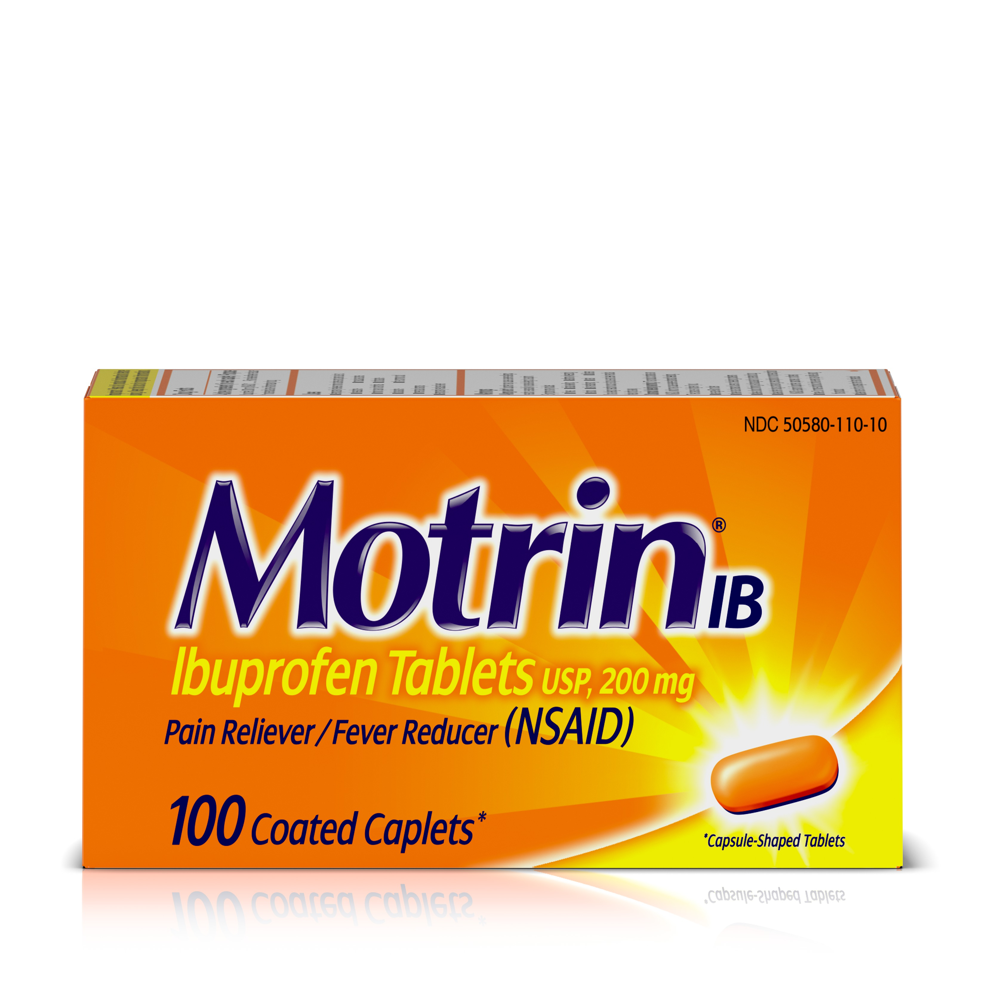 Motrin IB, Ibuprofen, Aches and Pain Relief, 100 Count