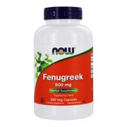 NOW Foods - Fenugreek Traditional Herbal Supplement 500 mg. - 250 Vegetable Capsule(s)