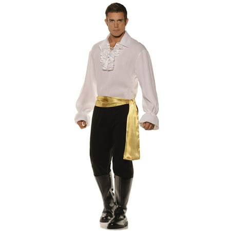 High Seas Bandit Mens Adult White Pirate Halloween Costume - Pirate Costumes For Men