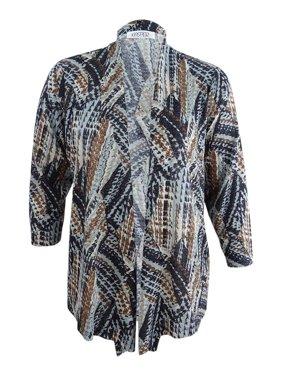 85a0371514930d Product Image Kasper Women s Plus Size Patterned Open Cardigan