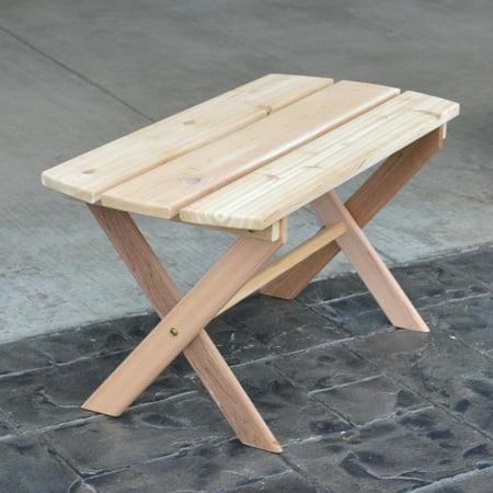 A & L Furniture Western Red Cedar Folding Coffee -