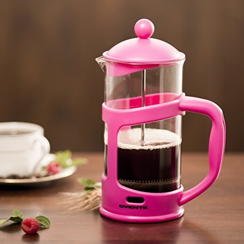 Ovente French Press Cafetière Coffee And Tea Maker Heat Resistant Borosilicate Gl 34 Oz 1005 Ml 8 Cup Black Fpt34b