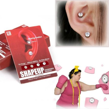 2 Pair Bio Magnetic Healthcare Earring Weight Loss Earrings Slimming Ear Healthy Stimulating Acupoints Stud
