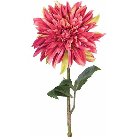"Vickerman 28"" Artificial Crimson Dahlia Stem"