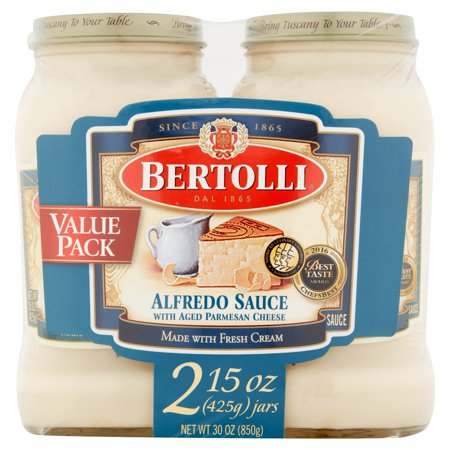 Bertolli Alfredo with Aged Parmesan Cheese Pasta Sauce 15 oz. (Pack of (Cheese Sauce With Water Instead Of Milk)