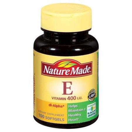 Nature Made E 400 UI Vitamine Complément alimentaire gélules - 100 CT