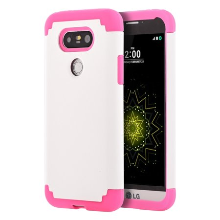 Insten Dual Layer Hybrid Hard Plastic/Silicone Skin Case Cover For LG G5 - (Best Case For The Lg G5)