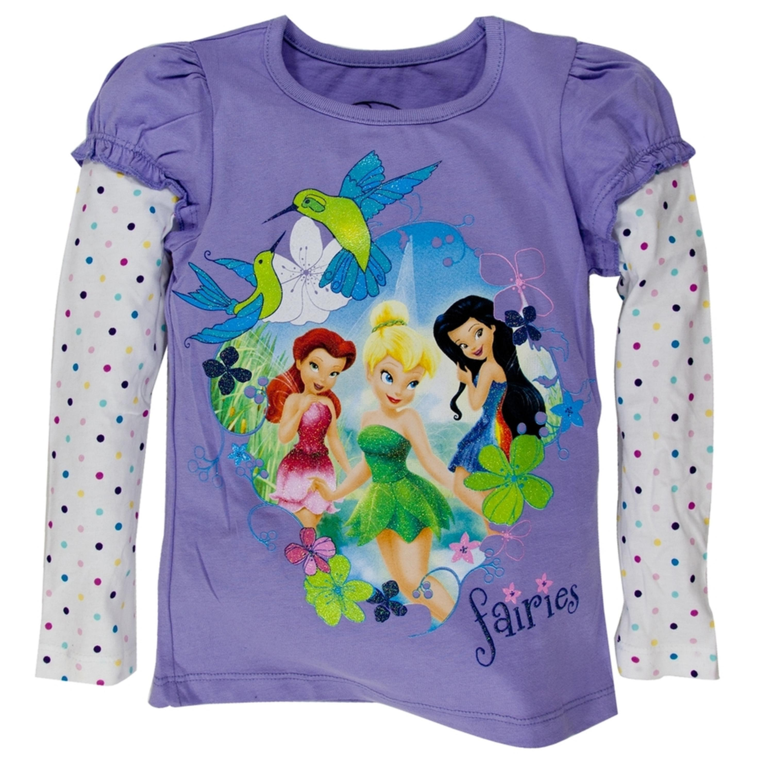 Disney Fairies - Fairy Fabulousness Girls Juvy 2fer Long Sleeve T-Shirt