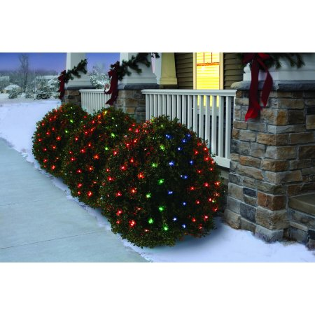 Holiday Time Net Light Set Green Wire Multi Bulbs, 150 Count