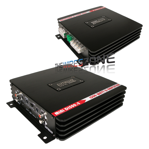 Earthquake Sound Mini D1500.2 Class D 2-Channel 1500W Car Amplifier