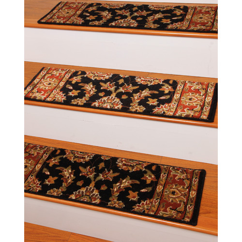 Natural Area Rugs Sydney Black Stair Tread (Set of 13)