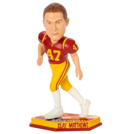USC Trojans Clay Matthews Forever Collectibles Thematic Base Bobble Head