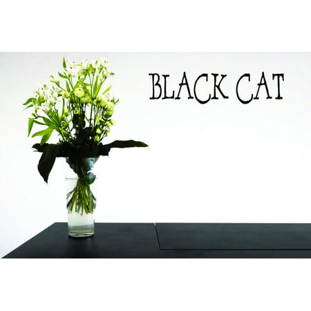 New Wall Ideas Black Cat Halloween Holiday Trick Or Treat 16x40