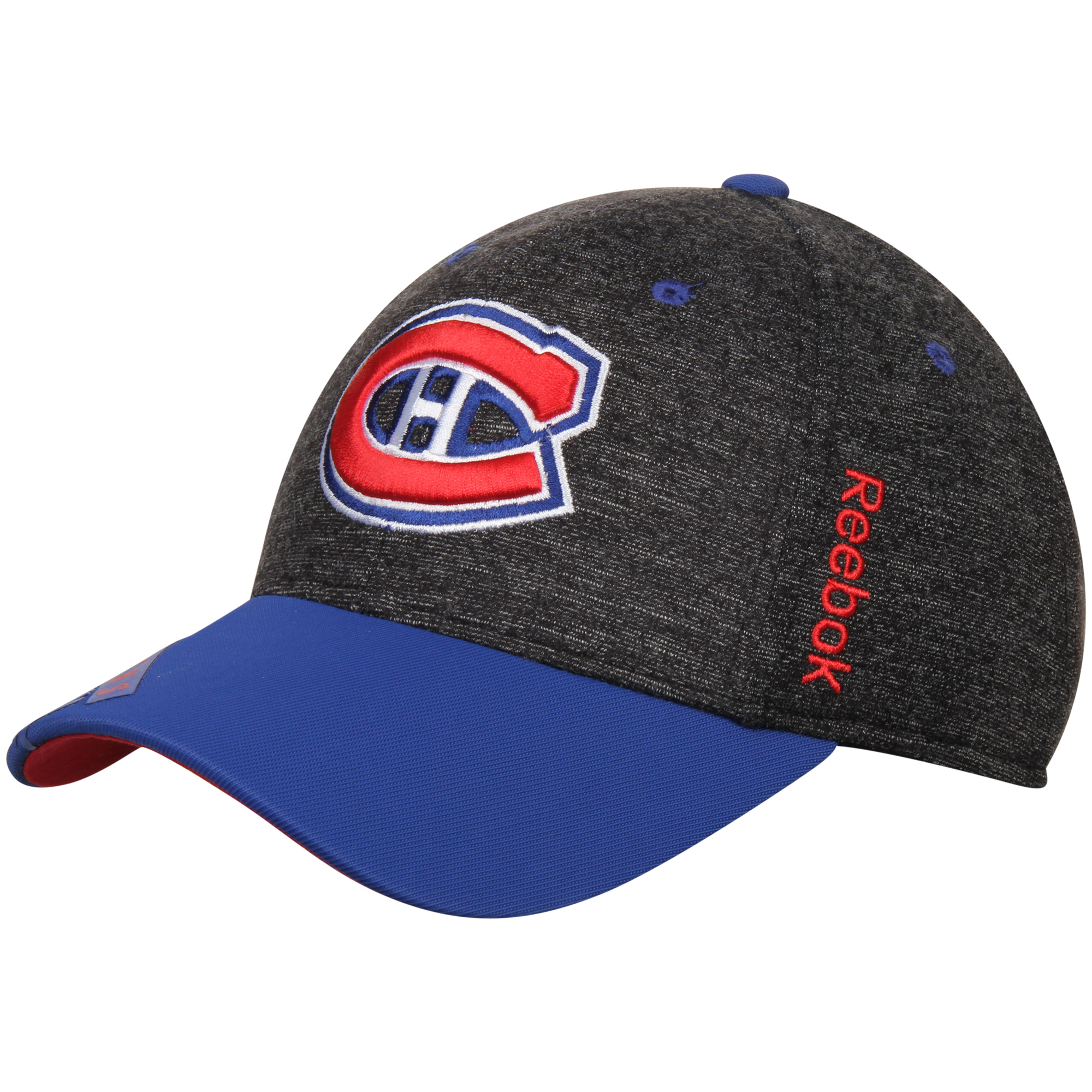 Montreal Canadiens Reebok Two-Tone Structured Flex Hat - Charcoal/Royal