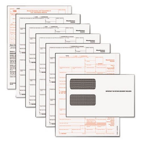Tax Forms/1099 Misc Tax Forms Kit With 24 Forms, 24 Envelopes, 1 ...