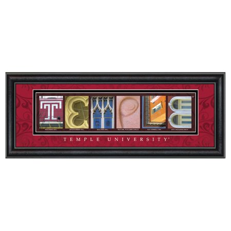 Acetate Temples Frame - Framed Letter Wall Art - Temple University - 20W x 8H in.