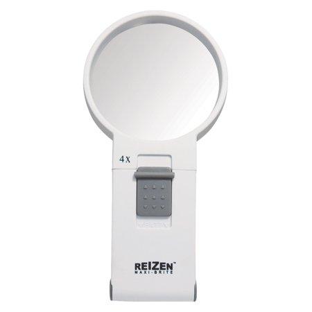 Reizen Maxi-Brite LED Handheld Magnifier - 4X Reizen Maxi Brite Magnifier