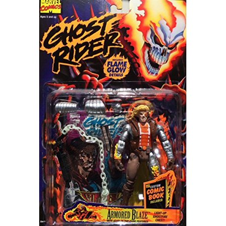 Ghost Rider Armored Blaze Light Up Ghost Fire ToyBiz Action Figure w/ Flame Glow & Comic Book - Ghost Armor Coupon