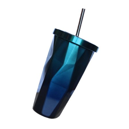 Insulated Travel Coffee Thermal fashion cup Double Wall Vacuum Drinking Metal ()