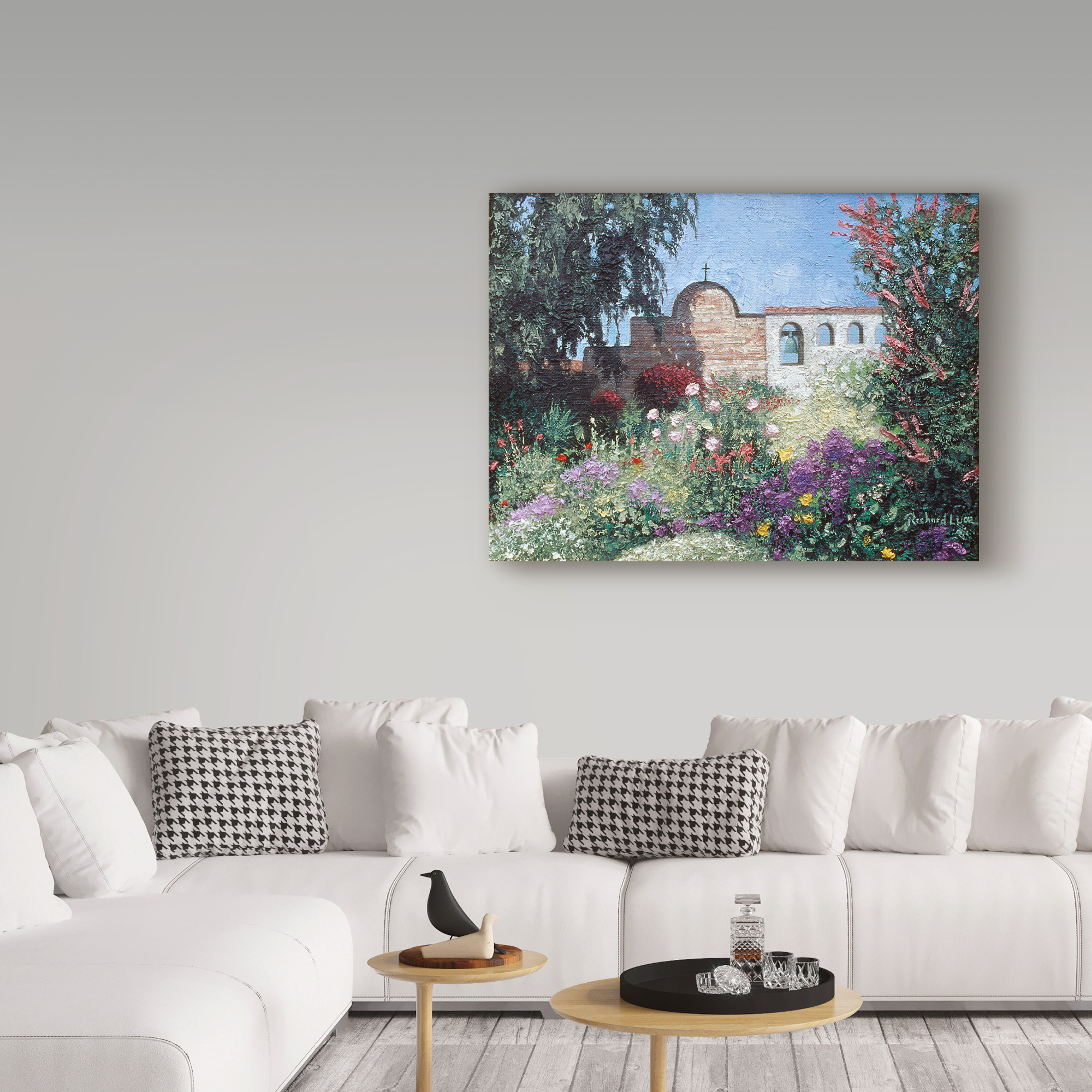 San Juan Capistrano by Richard Luce  Giclee On Canvas