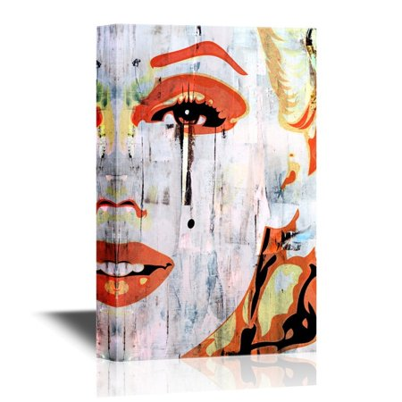 wall26 Canvas Wall Art - Marilyn Monroe Portrait in Oil Painting Style - Gallery Wrap Modern Home Decor | Ready to Hang - 12x18 inches