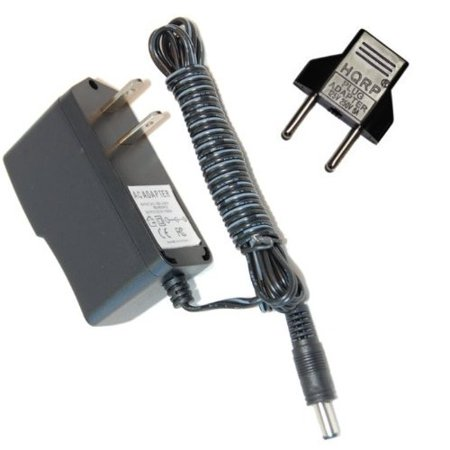 HQRP AC Adapter for Dirt Devil Sweeper Vac M083000, Power Cord Charger plus Euro Plug Adapter