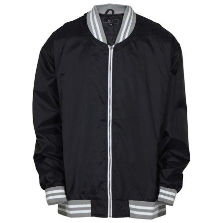 9 Crowns Men's Big & Tall Full Zip Varsity Windbreaker Jacket Full Zip Windbreaker