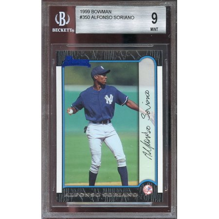 1999 bowman #350 ALFONSO SORIANO new york yankees rookie BGS 9 (9.5 8.5 9 9.5)