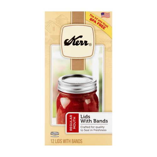 JARDEN HOME BRANDS 00070 Kerr 12Pack Can Jar Cap