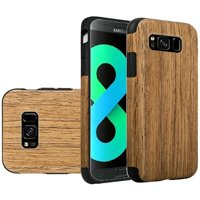 For Samsung Galaxy S8 Plus Case, by HR Wireless Wood Grain TPU Rubber Candy Skin Case Cover For Samsung Galaxy S8 Plus S8+