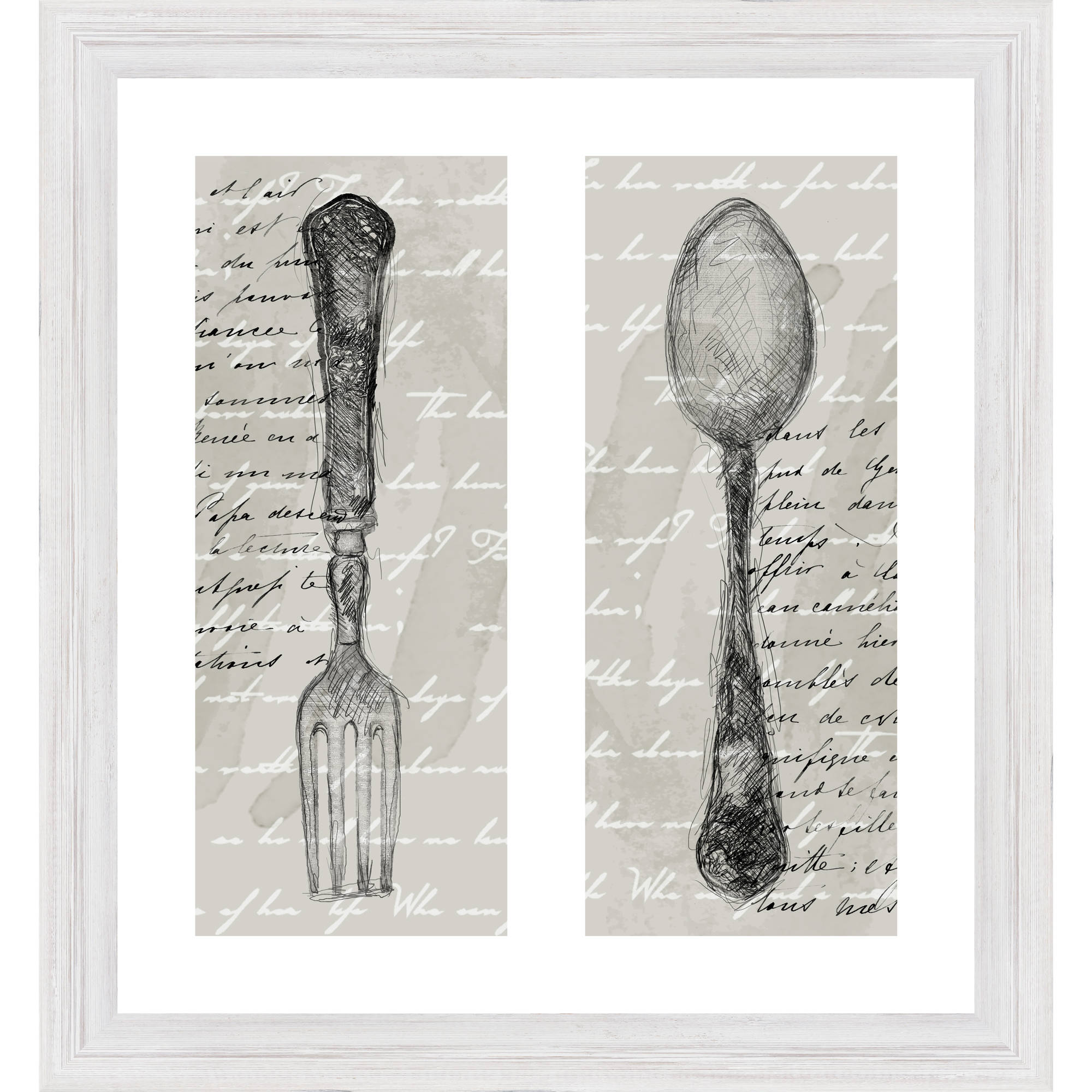 "French Fork and Spoon 24"" x 26"" Wall Art"