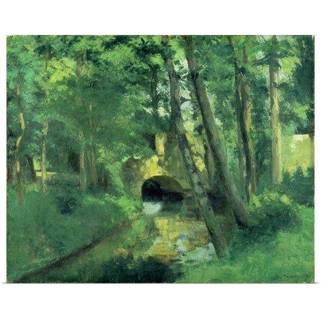 Great Big Canvas   Rolled Poster Print Entitled The Little Bridge  Pontoise  1875