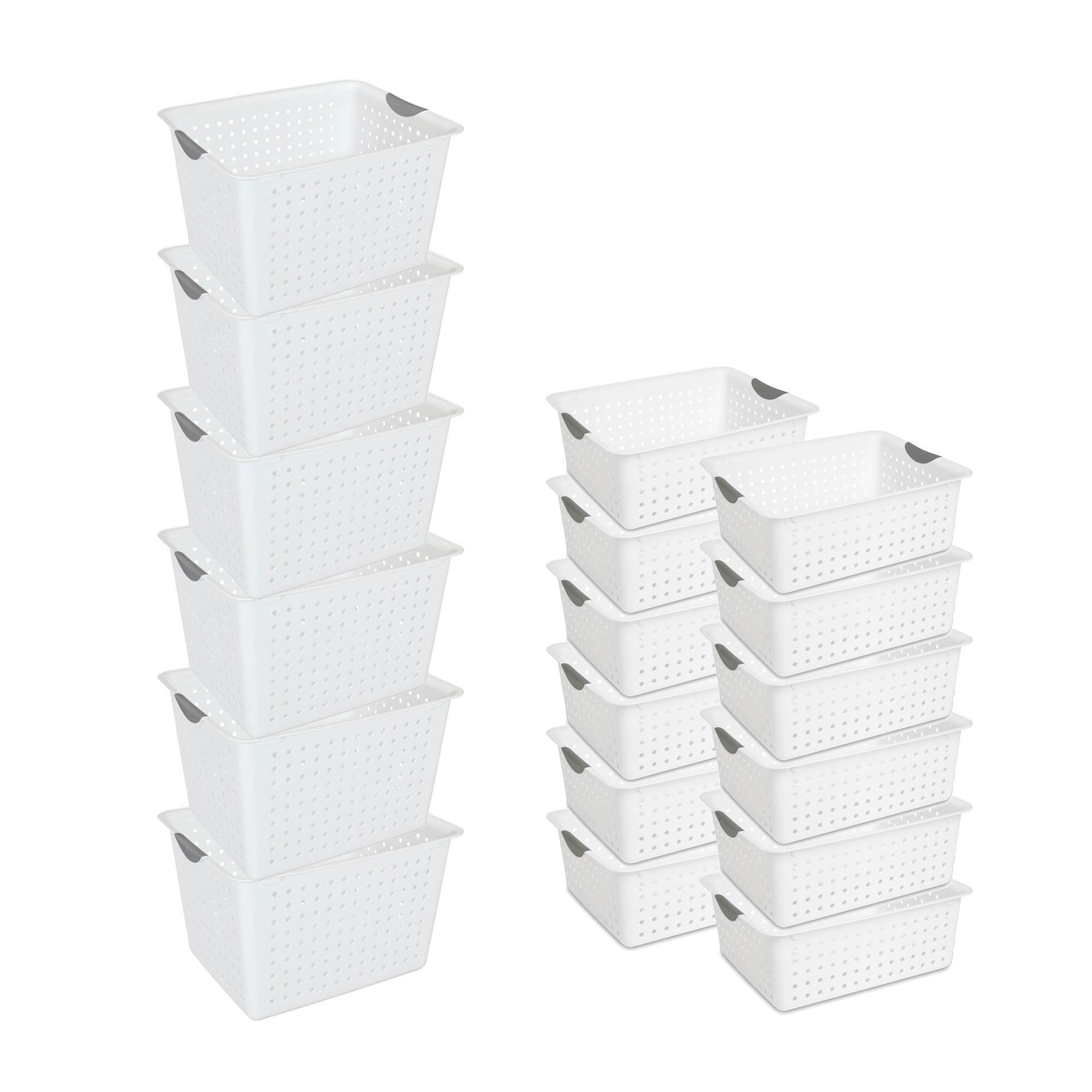 Sterilite Deep Ultra Plastic Storage Bin Basket 6 Pack Large Bin 12 Pack Walmart Com Walmart Com