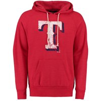 02de736ee2924 Product Image Texas Rangers Majestic Threads Classic Fleece Tri-Blend  Hoodie - Red
