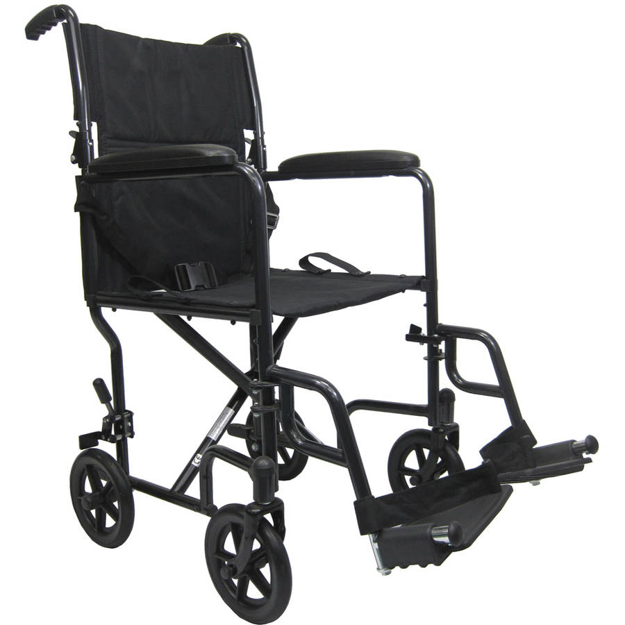 Karman T-2019 Lightweight Transport Chair with Removable Footrest